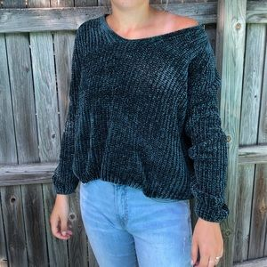 a new day Green Knit V-neck Sweater